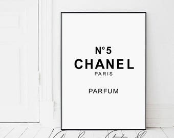 Chanel 5, Coco Chanel, Coco, Coco Chanel Print, Chanel, Chanel Number 5, Fashion Print, Fashion, Black and White, Inspirational, Number 5
