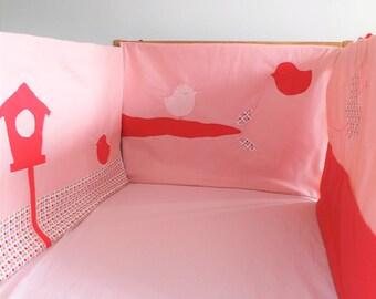 """Round pink bed """"birds"""""""