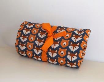 Changing pad Nomad orange and blue bear/Fox