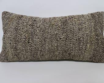 Decorative Kilim Pillow Sofa Pillow Floor Pillow 10x20 Lumbar Kilim Pillow Sofa Pillow Handwoven Kilim Pillow Cushion Cover SP2550-1419
