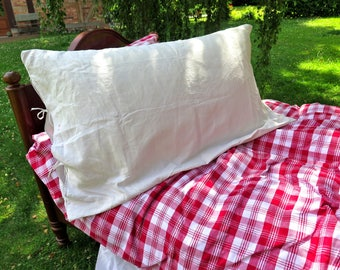 Cushion cover - French Country Style  - Hand-woven linen - Monogram