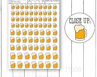 Beer Icon Planner Stickers