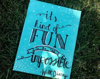 Walt Disney Quote Canvas