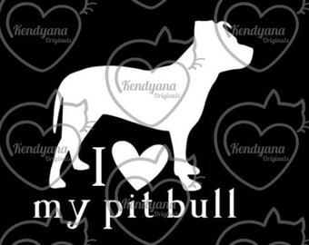 Custom I Heart My Dog sticker - available in multiple breeds- I love my dog - vinyl window decal - car decal