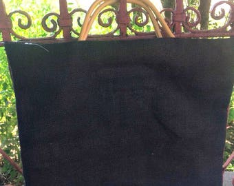 black burlap totebag, gift for her, vacation accessory