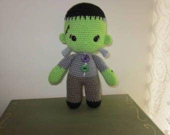 Frankenstein Toy, Amigurumi Frankenstein Doll, Toy Monster Doll, Monster Toy, Monster Doll