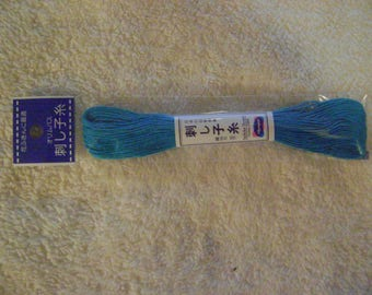Sashiko Embroidery Thread/Cyan Blue /22 yds