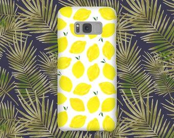 Samsung S8 Case Samsung S8 PLUS Case Samsung Case S8 Samsung Case S8 Plus - Lemon ! - Vintage Floral - Ultra Slim - Hard Case