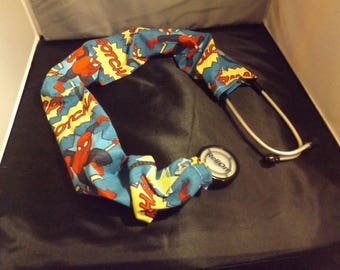 Spiderman stethoscope cover, Stethoscope accessory, Stethoscope cover, Stethoscope scrunchie