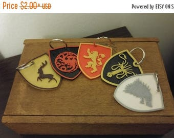 SUMMER SALE Game of Thrones House Sigil Keychains