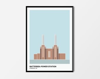Battersea Power Station, Colour, London Print | London Artwork | London Print | Architecture Print | Battersea Print