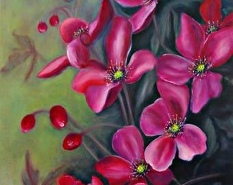 Rosebush. Artist Victoria Gumanenko.
