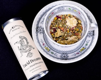 Lucid Dreams Loose Leaf Herbal Tea for Vivid Dreaming at Bedtime