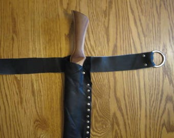 Leather Knife Sheath with Belt Loop, Made to Order