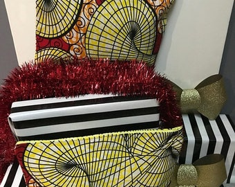 End of year Red/Yellow Clutch Bag