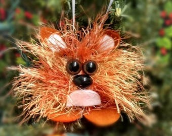 Woodland Fox Funny Handmade Felted Christmas Tree Ornament Christmas Decor Gift or Stocking Stuffer - Ready to Ship