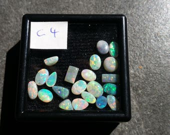 6.85 carats lots 22 pieces white opal