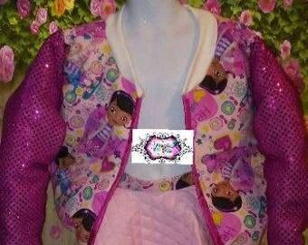 Custom Jacket, Character Jacket, 1st Birthday, Sequin Jacket
