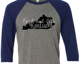Kentucky t-shirt - Kentucky state shirt - Kentucky home t-shirt - home shirt - Kentucky baseball shirt -Kentucky raglan shirt -Enid and Elle