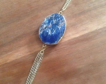 Tassle necklace - Blue Jasper