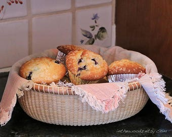 Nantucket Bread Basket - Serving Bowl - Bun Basket
