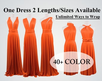 Orange Bridesmaid Dress long bridesmaid dress short infinity dress convertible bridesmaid dress bridesmaid gift ideas Any occasion dresses