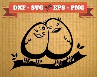 BIRD SVG vector files for cricut, couple cutting files,love clipart , DXF files bird, silhouette love, svg couple