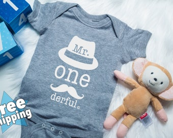 1st Birthday onesie, Mr onederful onesie, Mr Onederful tee, 1st birthday tee, 1stBirthday boy shirt, Boys first birthday outfit