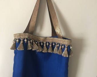 Fancy handmade tote bag