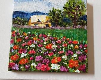 Floral fields cabin