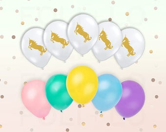 """CLEAR and PASTEL Unicorn BALLOONS 