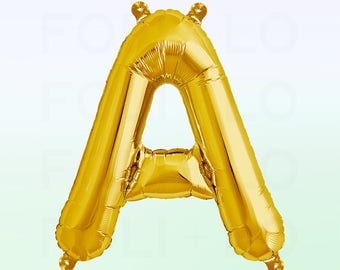 Metallic Gold Letter A Balloon | Gold A Balloon | Gold Letter A Balloon | Jumbo Letter A Balloon