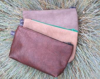 Special leather case/make up bag