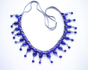 Indian glass necklace