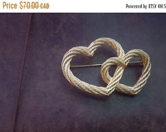 ON SALE Vintage Christian Dior Hearts Brooch