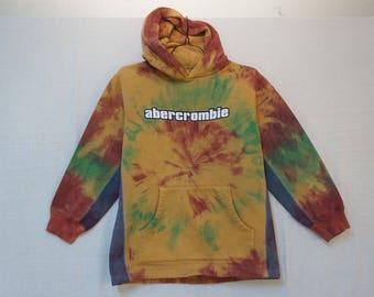 Abercrombie Heavy Hoodie, Tie Dye, Boy's/Youth Large 05352