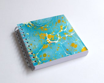 "Notebook 4x4"" decorated with motifs of marbled papers - 20"