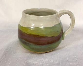 Stoneware mug - pottery mug - handmade pottery coffee mug - wheel thrown mug