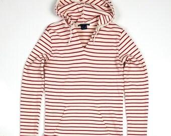 Women's Ralph Lauren Sport Hoodie Size M, Ralph Lauren Striped Hoodie Made In USA, Yacht Club Wear
