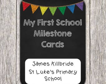 First Day of School Milestone Cards ~ Starting School Gift ~ Milestone Cards ~ First Day at School Keepsake ~ First Day of School Gift