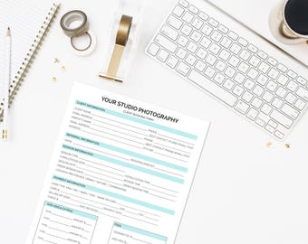 Client Booking Form Template for Photographers