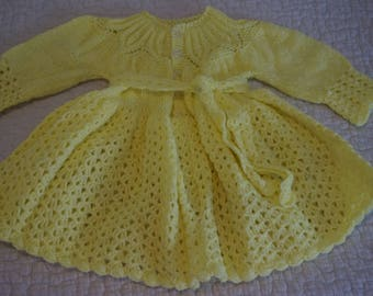 Yellow Toddler Sweater dress