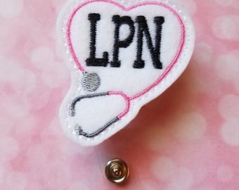 LPN Badge Reel  LPN   Badge Reel  Retractable   Name Badge  Badge Reel    Badge Holder  ID Holder  Licensed Practical Nurse