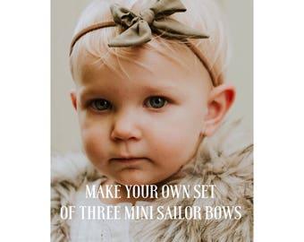Sailor bows, Bows, hair bows, headband, hair clip