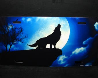 WOLF Metal Novelty License Plate For Cars