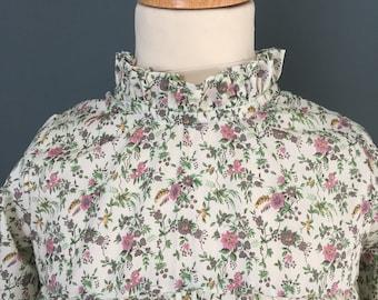 Liberty Floribunda dress with small frill collar