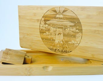 Rolling Tray - Magnetic Bamboo Rolling Tray - Abduction