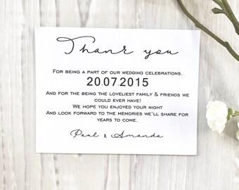 Personalised Wedding & Engagement Thank You Cards