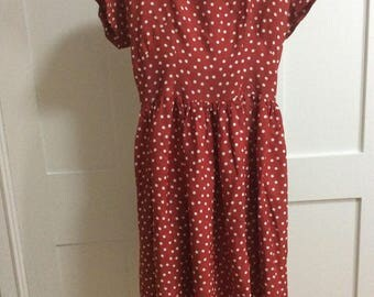 1940/50's Wine Spot Dress