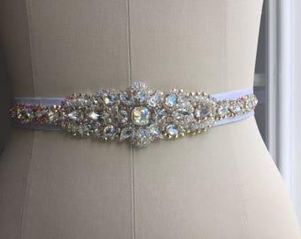 Bridal belt. Swarovski Crystals. Bride